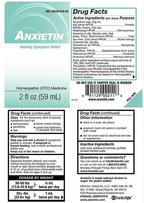 anxietin-ingredients