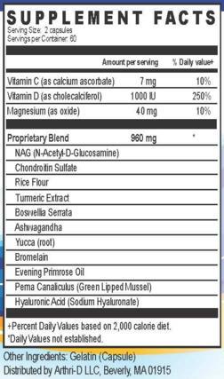 arthri-d3-ingredients