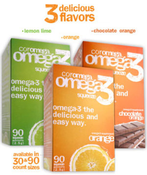 Coromega Omega3 Squeeze (30ct and 90ct)