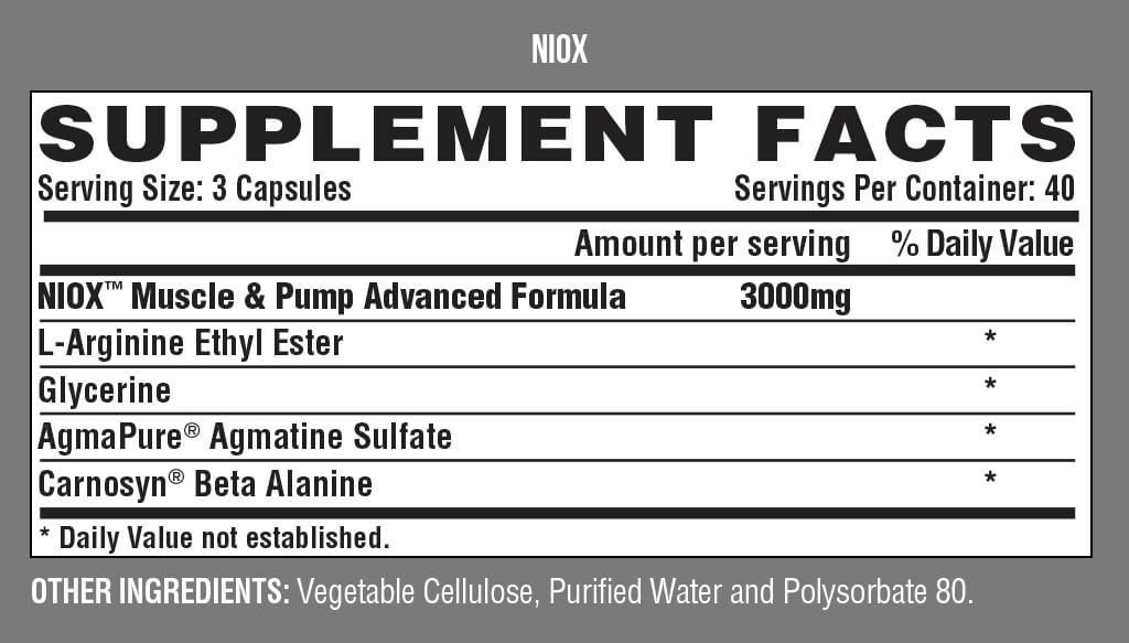 Niox (120 capsules)